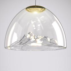 Mountain View Pendelleuchte - kristall / gold