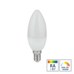 Sigor LED Kerze E14, 6,5 W, Ra>97, Dim-to-Warm, Auslaufmodell