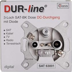 DUR-line DUR-line DSA 63001 - Sat-Durchgangsdose SAT-Kabel