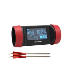 Grilleye Grillerweiterung GrillEye PRO (1-St), Grillthermometer für bis zu 8 Messfühler (2 Messfühler inklusive) 6 cm x 13 cm x 6 cm