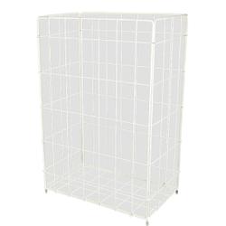 Faltbarer Papierkorb, 50 Liter, Zum Hängen und Stellen, Maße: 33 x 64 x 25,5 cm, Farbe: weiß