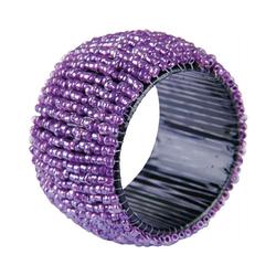 Bestlivings Serviettenring, Glasperlen, (1-tlg), Serviettenring, Handarbeit, Glasperlenring lila