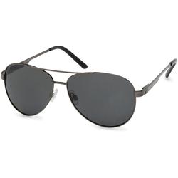 styleBREAKER Sonnenbrille Polarisierte Piloten Sonnenbrille mit Etui Polarisiert grau