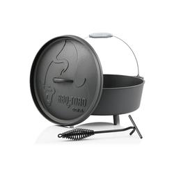BBQ-Toro Feuertopf BBQ-Toro Dutch Oven DO12A, 10,7 L Alpha Gusseisen Kochtopf, Gusstopf