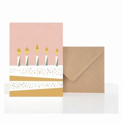 Grußkarte Geburtstagskuchen (VE5)