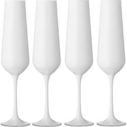BOHEMIA SELECTION Sektglas, (Set, 4 tlg.), 200 ml, 4-teilig weiß Sektgläser Champagnergläser Gläser Glaswaren Haushaltswaren Sektglas