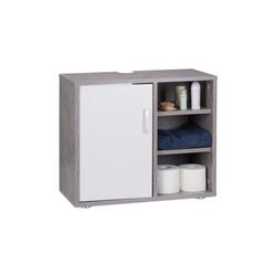 relaxdays Waschbeckenunterschrank Waschbeckenunterschrank 4 Fächer
