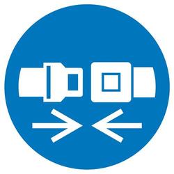 Gebotsschild Rückhaltesystem benutzen Folie selbstklebend (Ø) 100mm ISO 7010 1St.