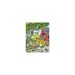 Larsen Puzzle Rahmen-Puzzle, 53 Teile, 36x28 cm, Bienenzucht, Puzzleteile