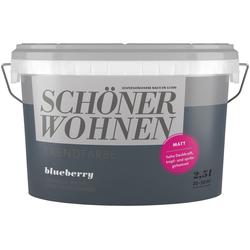 SCHÖNER WOHNEN-Kollektion Wand- und Deckenfarbe Trendfarbe Blueberry, matt, 2,5 l