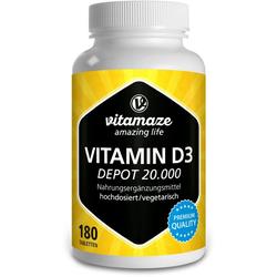 VITAMIN D3 20.000 I.E. Depot hochdosiert Tabletten 180 St.
