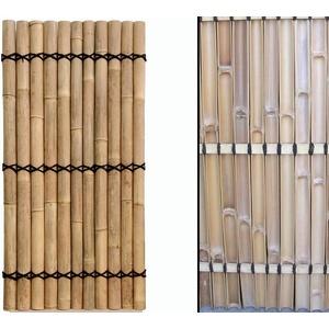 Sichtschutz Bambus Zaun Apas gelblich, starre Verschnurrrung, Druch. 6 bis 8cm, 180 x 90cm von Bambus-Discount - Bambuswand Sichtschutzwand Wand aus Bambus Bambuselemente