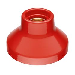 E27 Porzellan Lampen-Fassung Elektra, rund, rot, 90mm