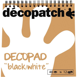 décopatch Motivpapier Decopad Black and White, 48 Blatt
