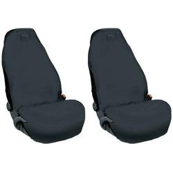 074011 Sitzbezug 2fach Vlies Schwarz Fahrersitz