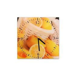 Bilderdepot24 Deco-Panel, Glasuhr - Zitronen - 039