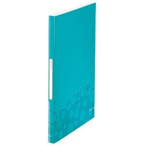 LEITZ WOW Sichtbuch eisblau-metallic mit 40 Hüllen