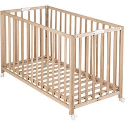 Kinderbett FOLD UP, klappbar, 60 x 120 cm, Buche natur braun