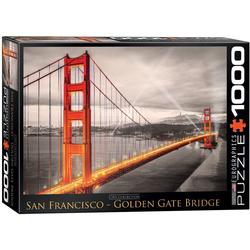 empireposter Puzzle Golden Gate Brücke San Francisco - 1000 Teile Puzzle im Format 68x48 cm, Puzzleteile