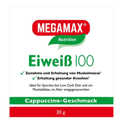EIWEISS 100 Cappuccino Megamax Pulver 30 g