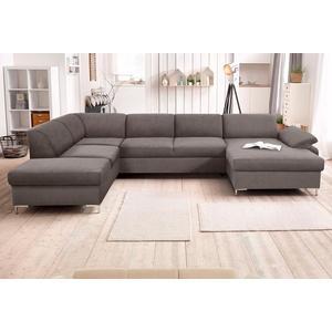 Domo Collection Wohnlandschaft, grau, komfortabler Federkern, FSC®-zertifiziert