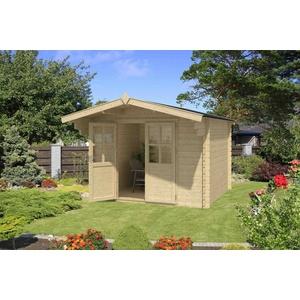 28mm Gartenhaus 290x250 cm Gerätehaus Schuppen Hütte Neu Holz Holzhaus
