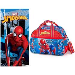Spiderman Sporttasche Marvel Spiderman - Sporttasche und Badetuch (Reißverschluss, Jungen), Geringes-Gewicht