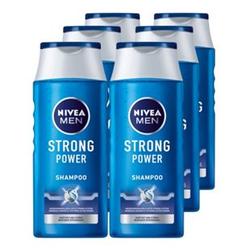 NIVEA Pflegeshampoo Strong Power 250 ml, 6er Pack