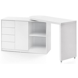 WOHNLING NAOMI Schreibtisch weiß rechteckig