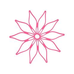 Kochblume Topfuntersetzer Vario, Hitzebeständig bis 230° rosa