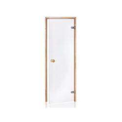 Tür für Sauna mit vorgespanntem 8 mm Glas 70 x 190 cm (Rahmen aus Kiefer) 1