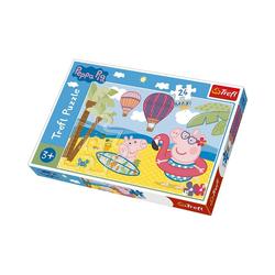 Trefl Puzzle Maxi Puzzle 24 Teile - Peppa Pig in den Ferien, Puzzleteile