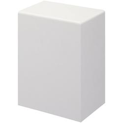 Bodenmeister Endkappe Rohrabdeckleiste Weiß, H: 10 cm, Set