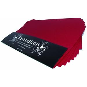 Paperstate Einladungskarten, Rubinrot, 10 Stück