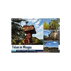Felsen im Wasgau (Tischkalender 2021 DIN A5 quer) - Kalender