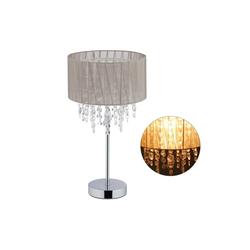 relaxdays Tischleuchte Tischlampe Organza Kristall XL