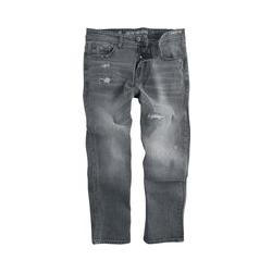 Shine Original Cropped Loose Fit Jeans Metal Grey Jeans dark grey