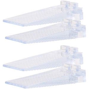 4er-Set transparente Kunststoff-Türkeile, 8,7cm, stapelbar