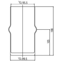 Ideal Standard Ersatzglas für Toilettenbürstengarnitur Opalglas