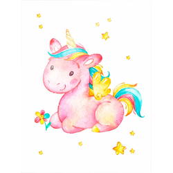 Poster »Pinky the Unicorn«, Bilder, 11086635-0 rosa 40x50 cm rosa