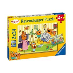 Ravensburger Puzzle Puzzle Zuhause bei den Kid e Cats, 2x24 Teile, Puzzleteile
