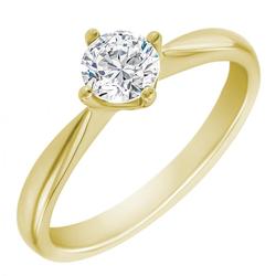 Verlobungsring aus Weißgold mit Diamant Mahiya