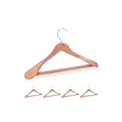 relaxdays Kleiderbügel 5 Anzugbügel aus Zedernholz