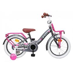 LeNoSa Kinderfahrrad AMIGO 16 Zoll Mädchen Fahrrad mit Rücktrittbremse