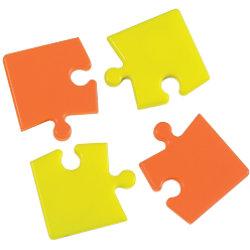 Bi-Office Whiteboard Magnete Puzzle Orange und Gelb 4 Stück