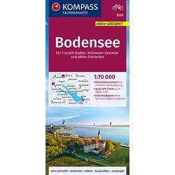 KOMPASS Fahrradkarte Bodensee 1:70.000 FK 3333