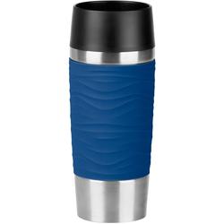 Emsa Thermobecher Travel Mug Wave, 360 ml blau und Coffee to go Geschirr, Porzellan Tischaccessoires Haushaltswaren