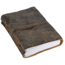 Gusti Leder Notizbuch Lina, Buch Notizbuch Tagebuch DIN A6 Braun Leder