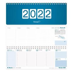 Häfft Tischkalender Tischkalender 2022 Königsblau