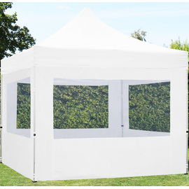 TOOLPORT Faltpavillon 3,00 x 3,00 m inkl. Seitenteile weiß (582046)